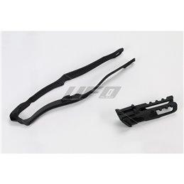 Kit cruna catena & Fascia forcellone nero HONDA CRF 250 R 14-18