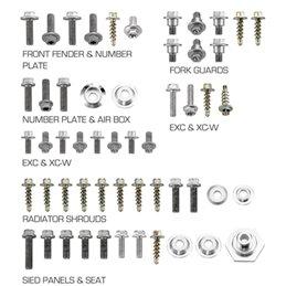 RiMoToShop|Plastic screw kit Husqvarna 350 FC 14-15-NRTeam