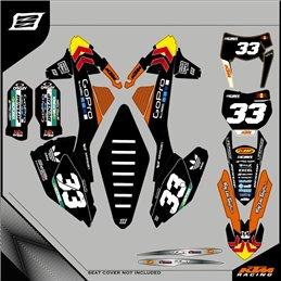 Graphiques personnalisés KTM EXC 125 Enduro-route