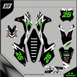Custom graphics KAWASAKI KLX 110 Motard - enduro