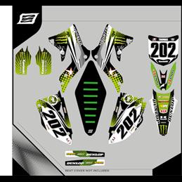 Grafiche personalizzate KAWASAKI KLX 125 Motard - enduro-GRFK-336-Rimotoshop