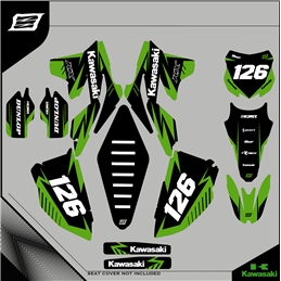 Custom graphics KAWASAKI KLX 300 Motard - enduro
