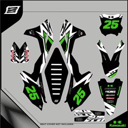 Custom graphics KAWASAKI KLX 400 Motard - enduro