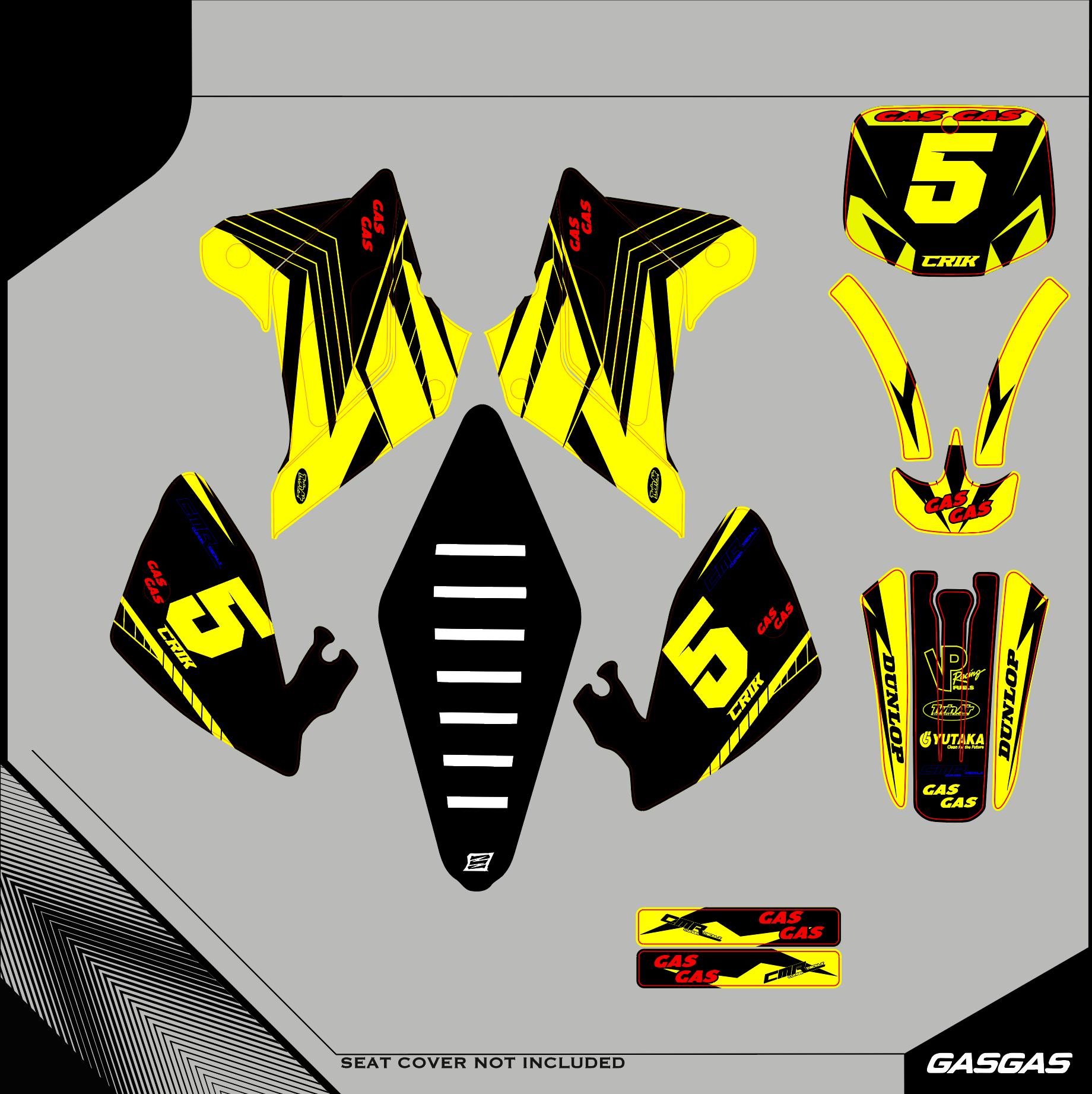 Grafiche-personalizzate-GASGAS-FS-400-RiMotoShop-Opaco miniatura 10