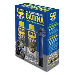 Kit pour nettoyer et lubrifier la chaîne de moto - WD-40
