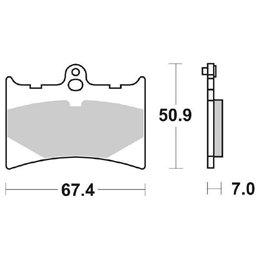 PASTIGLIE frein avant APRILIA RS 125 06-10