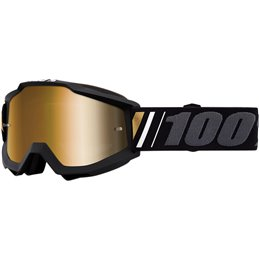 Goggle MX 100% accuri model GERNICA OFFROAD Gold mirror lens