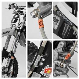 OEM front braided brake hose SUZUKI RM-Z 450 08-18-1741-4439-Moto Master