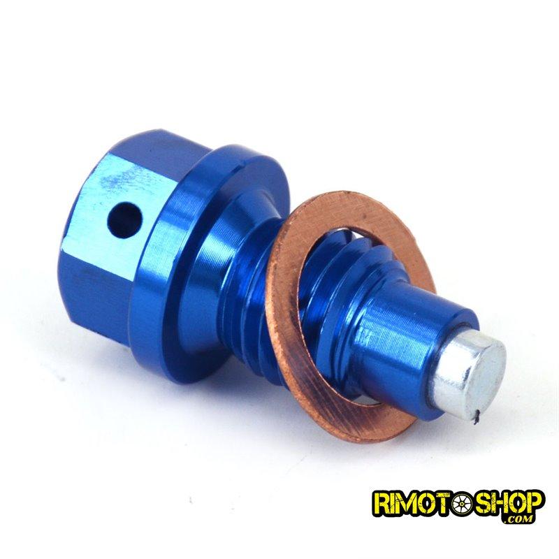Tappo scarico olio magnetico Yamaha WR 450 F 2006-2018 blu-RMT-YAM01-RiMotoShop