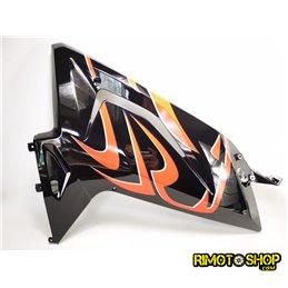CARENA SUPERIORE DX NERO + ADESIVO APRILIA RS 125-109904-RiMotoShop