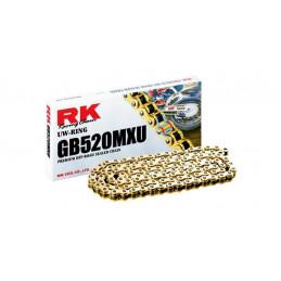 Catena RK passo 520 cross-enduro professionale con U-RING 120 maglie - nera
