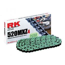 Catena RK passo 520 cross professionale senza O-RING 120 maglie - verde