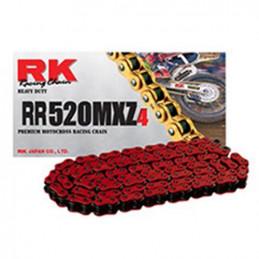 Catena RK passo 520 cross professionale senza O-RING 120 maglie - rossa