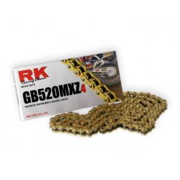 Catena RK passo 520 cross professionale senza O-RING 120 maglie - oro