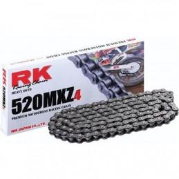 Catena RK passo 520 cross professionale senza O-RING 120 maglie - nera