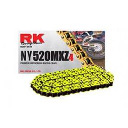Catena RK passo 520 cross professionale senza O-RING 120 maglie - gialla