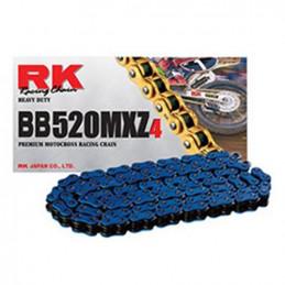 Catena RK passo 520 cross professionale senza O-RING 120 maglie - blu
