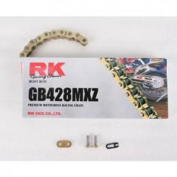 Catena RK passo 428 cross professionale senza O-RING 142 maglie - oro