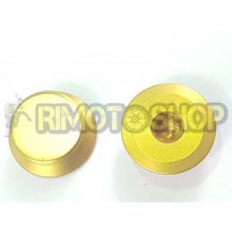 X2 Tappi carter frizione CNC oro Aprilia RS MX SX RX 125 ROTAX122