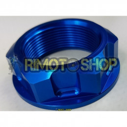 Honda CR 125 93-00 Dado piastra di sterzo blu