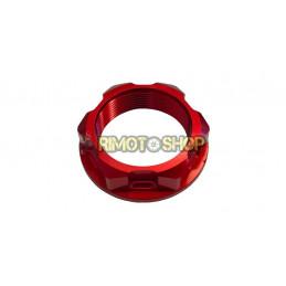 Suzuki RM 125 04-08 Dado piastra di sterzo rosso