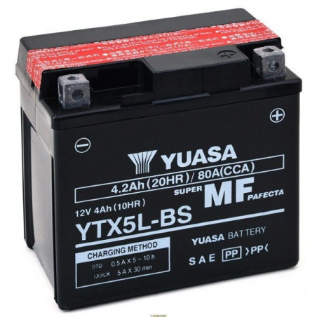 KTM SXS 4T 450 05/07 Batteria YTX5L-BS Acido a corredo