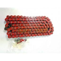 Catena MX Chain 520 cross-economica senza O-RING 120 maglie - rossa