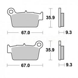 Pastiglie freno AP Gasgas EC 250 12-15 posteriori standard