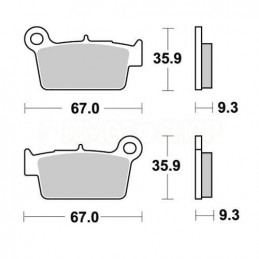 Pastiglie freno AP Beta RR 525 05-09 posteriori standard