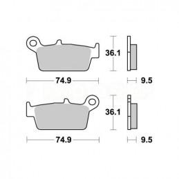 Pastiglie freno WRP Yamaha YZ 426 F 00-02 posteriori standard