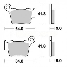 Pastiglie freno WRP Husqvarna 125 CR 05-13 posteriori standard