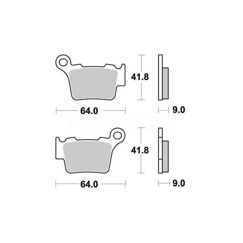Pastiglie freno WRP Sherco 300 SEF-R 14-17 posteriori