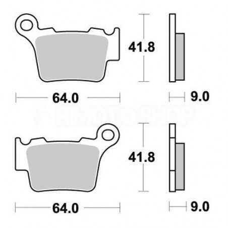 Pastiglie freno WRP Sherco 300 SEF-R 14-17 posteriori ceramic