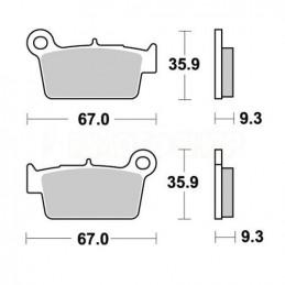 Pastiglie freno WRP Yamaha YZ 450 F 03-18 posteriori standard