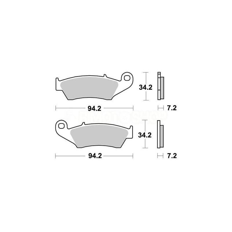 Pastiglie freno WRP Honda CRF 250 X 04-17 anteriori ceramic