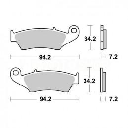 Pastiglie freno WRP Yamaha YZ 426 F 00-02 anteriori standard