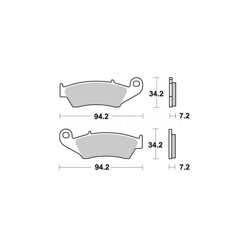 Pastiglie freno WRP Beta RR 450 05-14 anteriori race