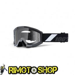 Maschera occhiali 100% STRATA JUNIOR GOLIATH - LENTE TRASPARENTE