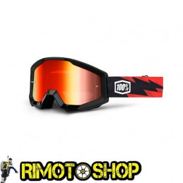 Goggles MX 100% STRATA SLASH - Lens MIRROR