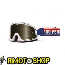 Maschera occhiali 100% BARSTOW WHITE - LENTE FUME