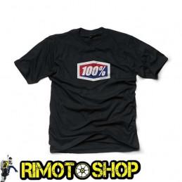 T-SHIRT 100% OFFICIAL NERA-465007L--100% ricambi per moto