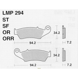 Pastiglie freno AP Beta RR 400 05-14 anteriori standard