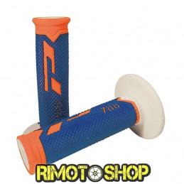Manopole CROSS PROGRIP 788 TRIPLE DENSITY ARANCIO FLUO/BLU/BIANCO-431177-ProGrip