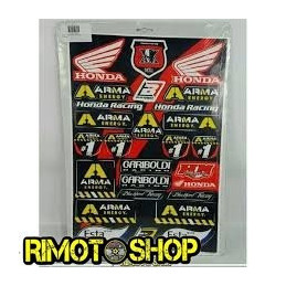 Kit adesivi sponsor logo sticker kit HONDA Gariboldi
