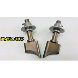 COPPIA VALVOLE DI SCARICO Kawasaki KX 125 03-07 cilindro 144