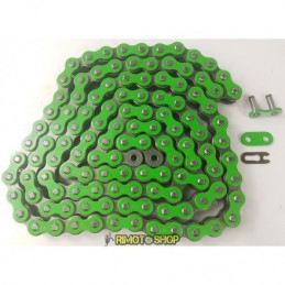 Catena MX Chain 520 enduro con RX-RING 120 maglie - verde