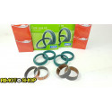 Kawasaki KX250 02-08 Kit revisione forcella BOCCOLE E TENUTE KAYABA 48 mm DOPPIO LABBRO