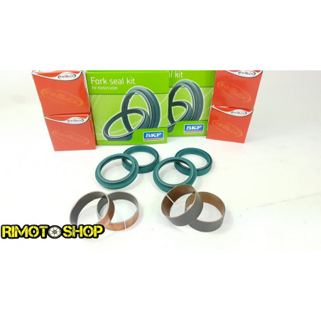 Husqvarna TE310 10-13 Kit revisione forcella BOCCOLE E TENUTE KAYABA 48 mm DOPPIO LABBRO